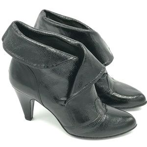 Shoes - Julie Dee Patent Leather Ankle Boots